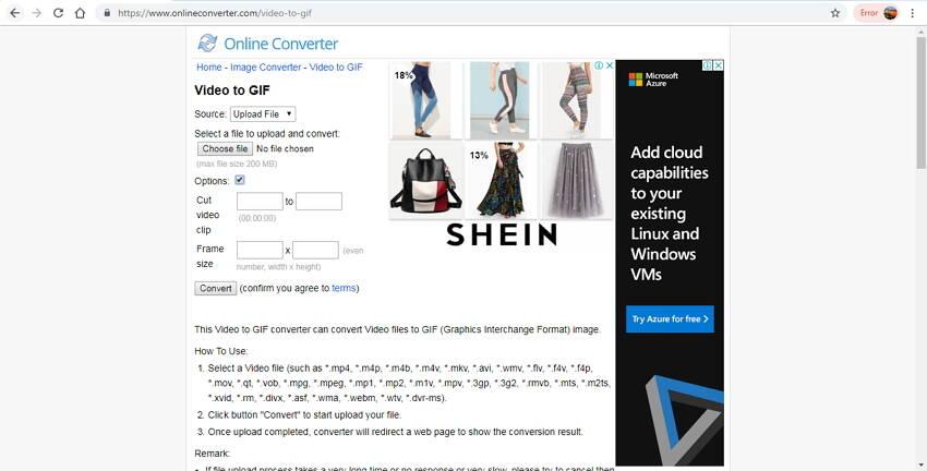 online video to GIF converter - Online Converter