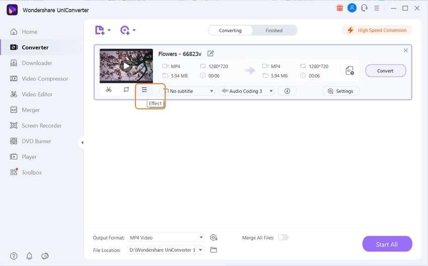 click editing settings