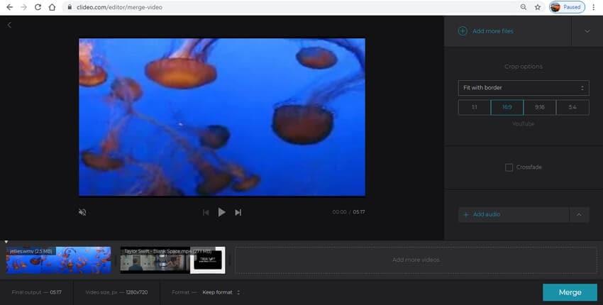 fusionador de video de youtube