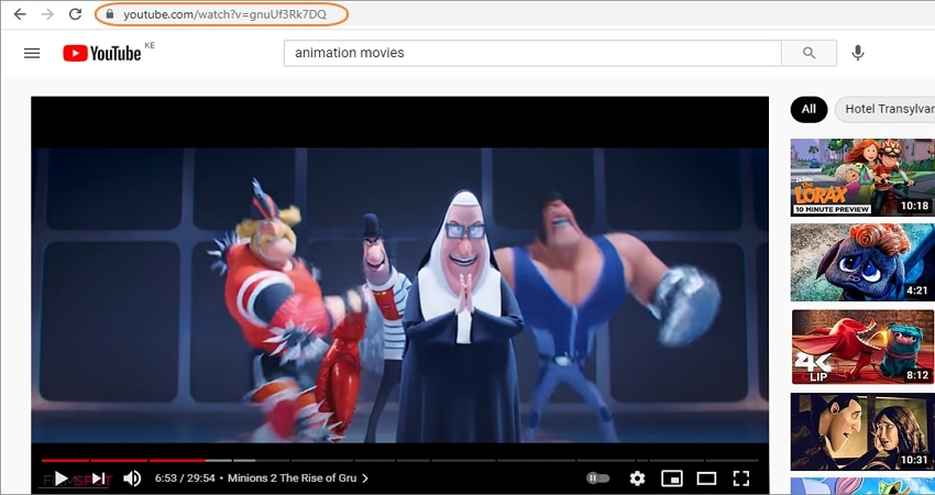 Find the YouTube video to speed up or slow down