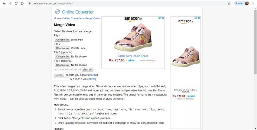 merge movies online convert