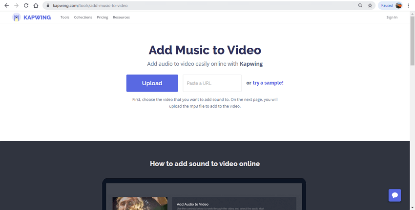 merge audio and video online - Kapwing
