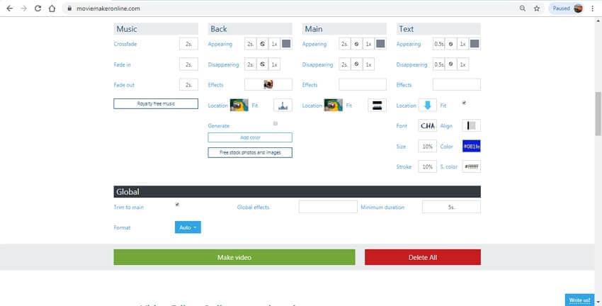 mesclar vídeo online - Movie Maker Online