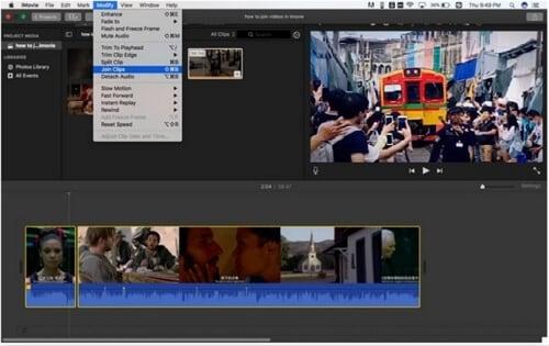 merge videos in imovie mac