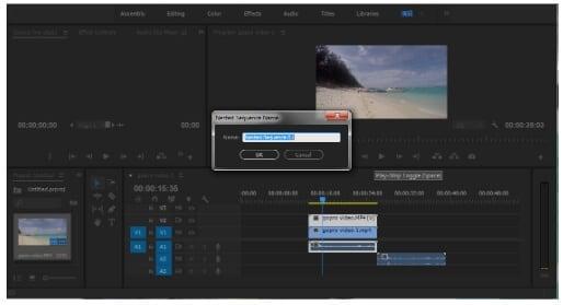 merge videos in Premiere