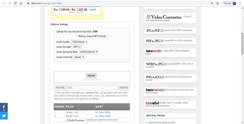 online audio joiner - Bear File Converter