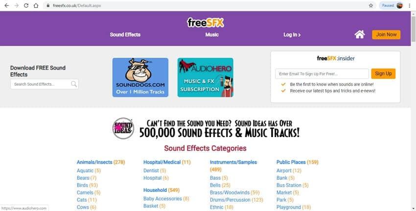 10 sound effects sites - FreeSFX