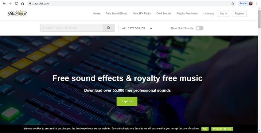 10 sound effects sites - ZapSplat