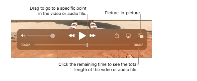 locate the playback controls