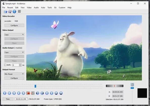 video editors for beginners - AVIDEMUX