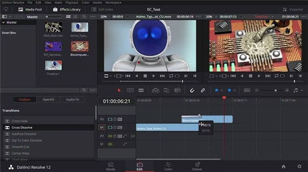 davinci resolve video editor