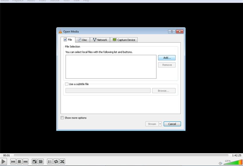 play RTMP files