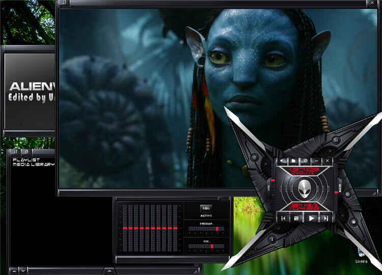 vlc skin-alienware darkstar