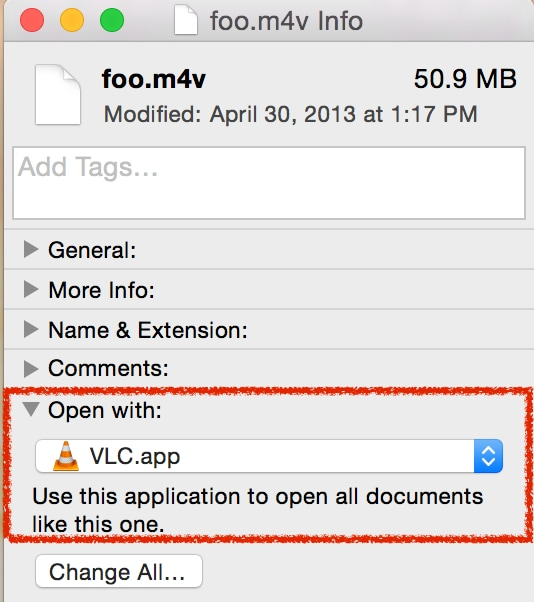 change VLC as default player on Mac