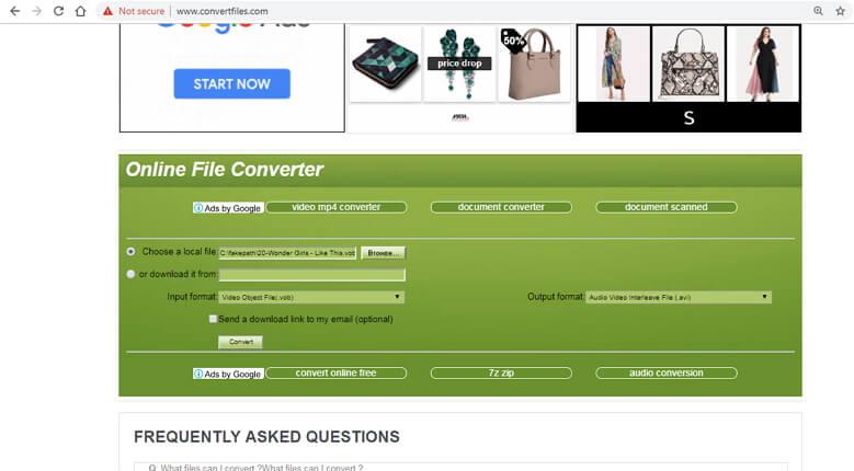 online vob converter - ConvertFiles