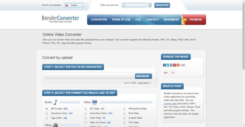 WMV to MOV online Converter - benderconverter