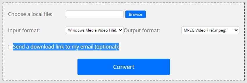ConvertFiles to convert WMV to MP4