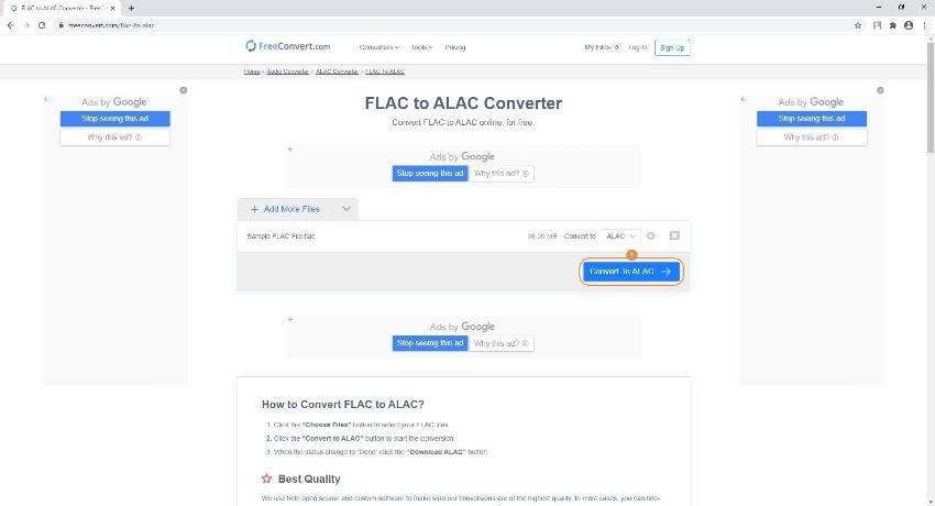 flac to alac