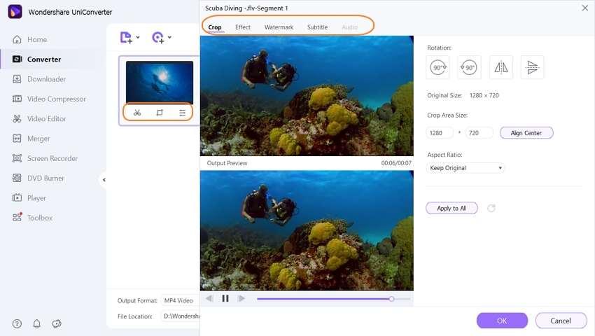 edit FLV videos
