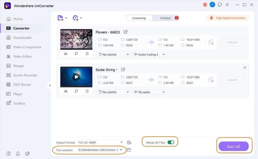 merge FLV easily