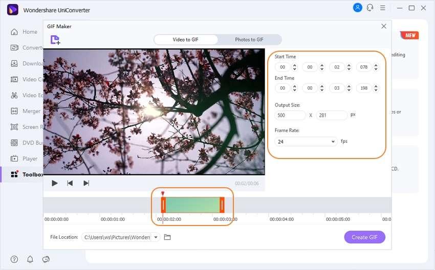 adjust flv output setting