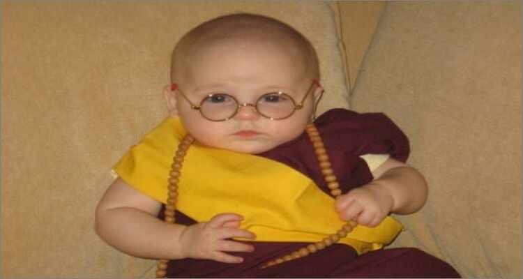 Halloween Costume Ideas  - The Cutest Dalai Lama Alive