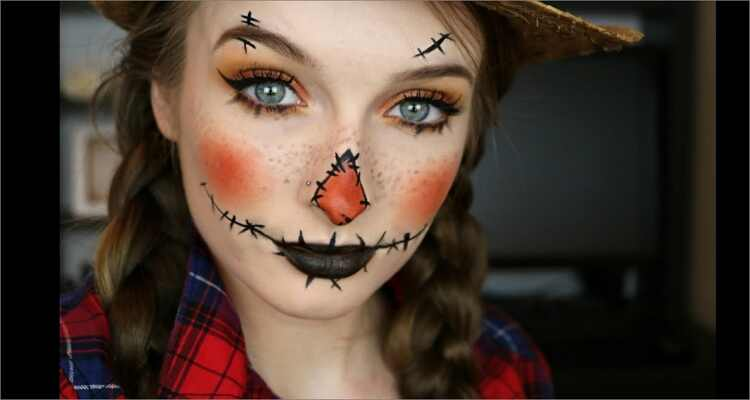 Halloween Makeup Ideas - Scarecrow Makeup