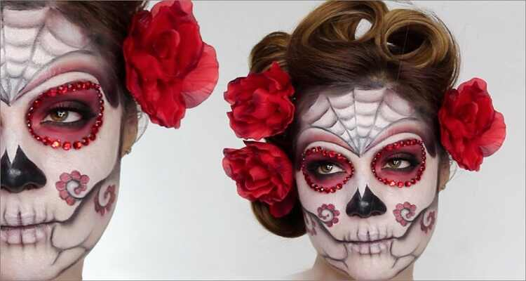 Halloween Makeup Ideas - Sugar Skull Makeup