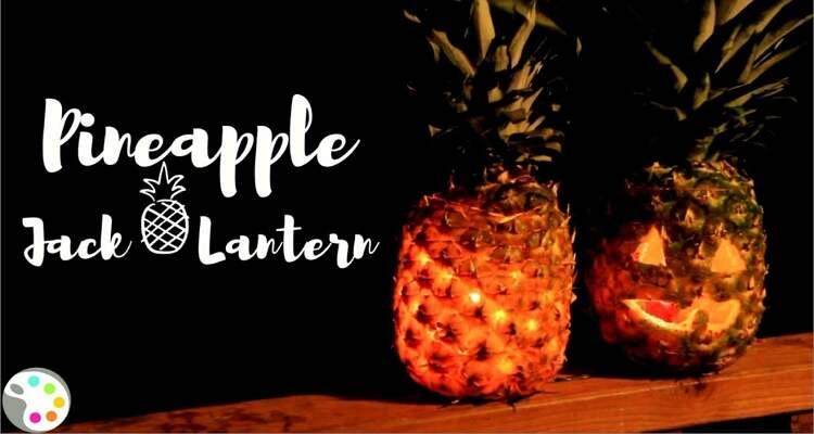 Ideen zum Schnitzen von Halloween-Kürbis - Ananas-Kürbislaterne