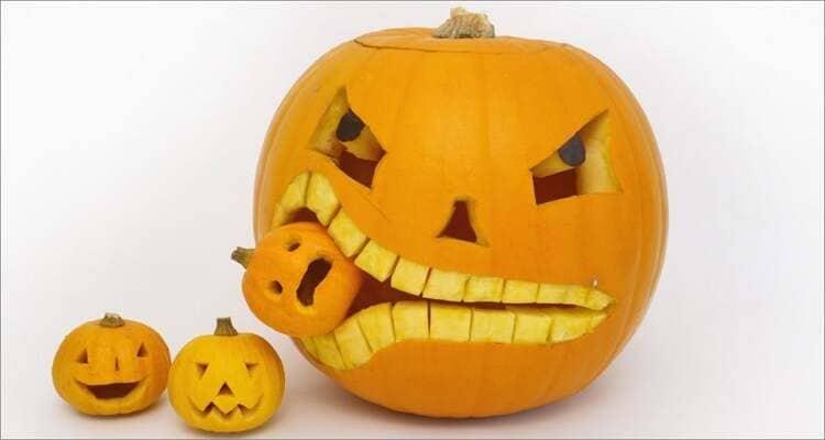 Halloween Pumpkin Carving Ideas - Pumpkin Eating a Pumpkin