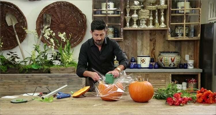 Halloween Pumpkin Carving Ideas - Pumpkin Flower Vase