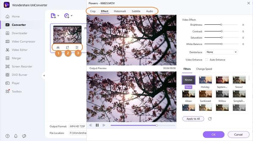 edit files by Wondershare Huawei Converter