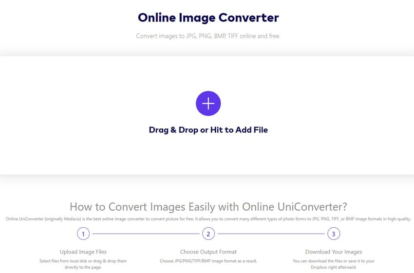 Convert Raw to JPEG Online-Online UniConverter