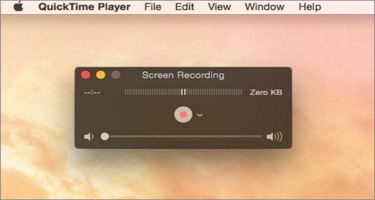quicktime player to record game