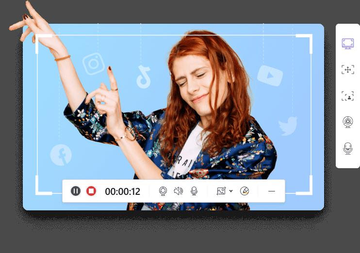 media recorder for social sharing