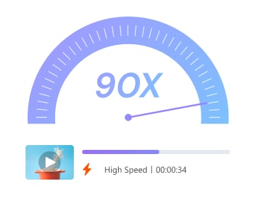 90X faster conversion speed