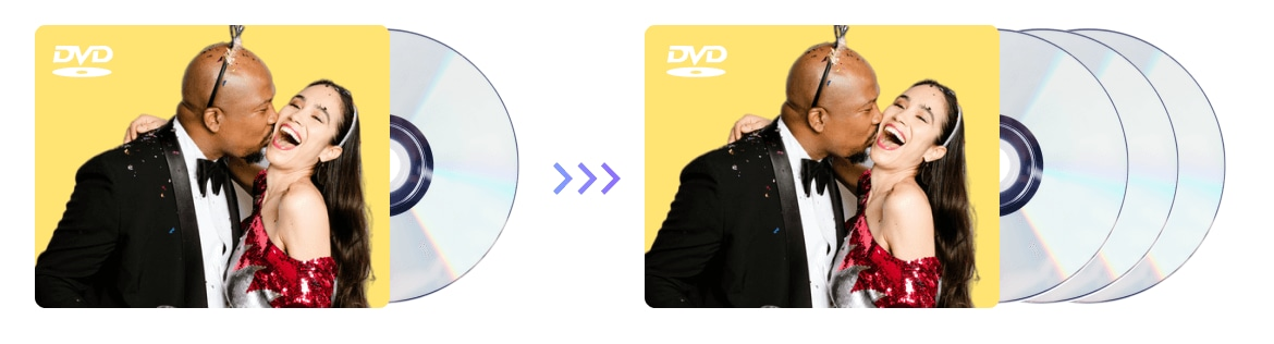Copy DVDs to blank discs