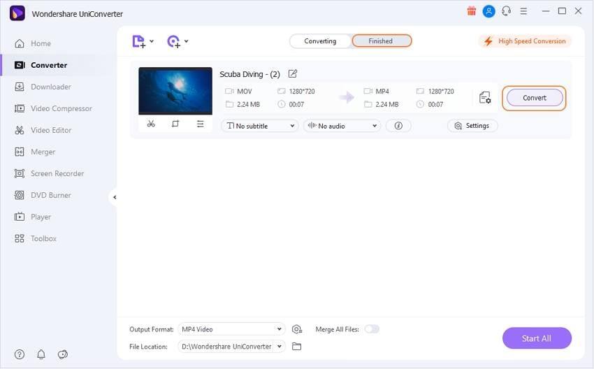 convert all imovie files by Uniconverter