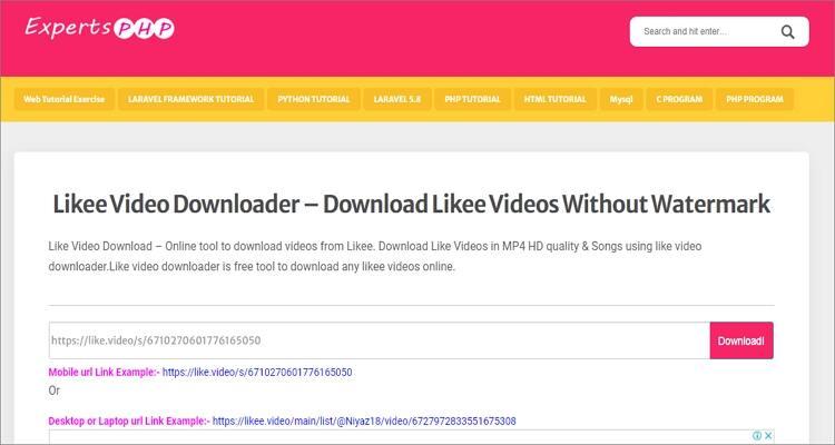 Likee Downloader Apps for Mobile and Desktops- ExpertsPHP