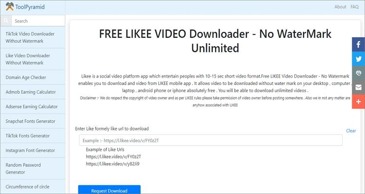 Likee Downloader Apps for Mobile and Desktops- Toolpyramid