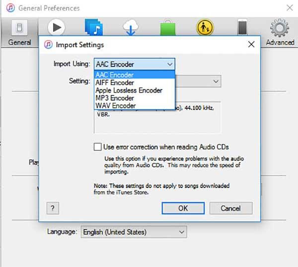 choose the AAC encoder