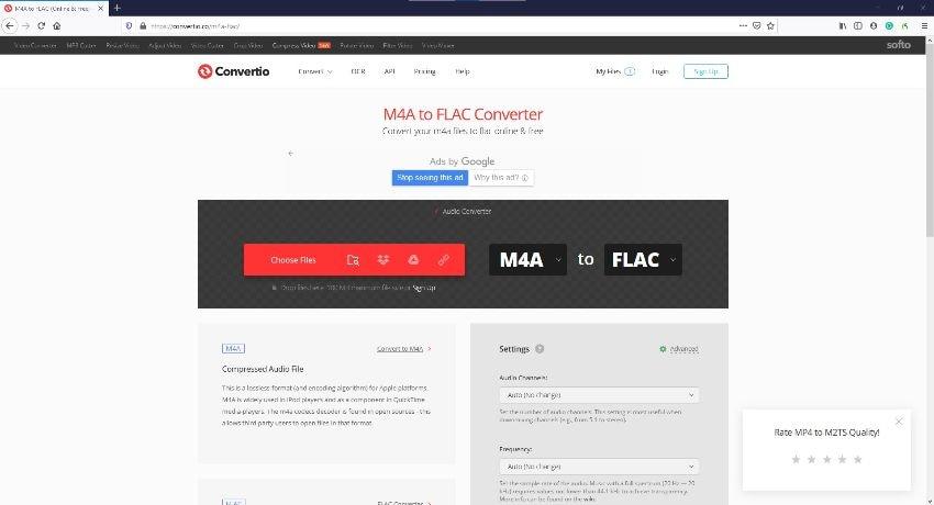 M4A zu FLAC Online Converter - Convertio