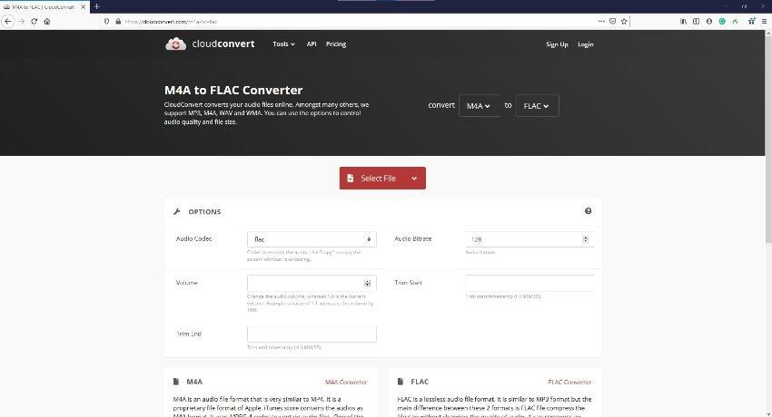 M4A zu FLAC Online Converter - CloudConvert