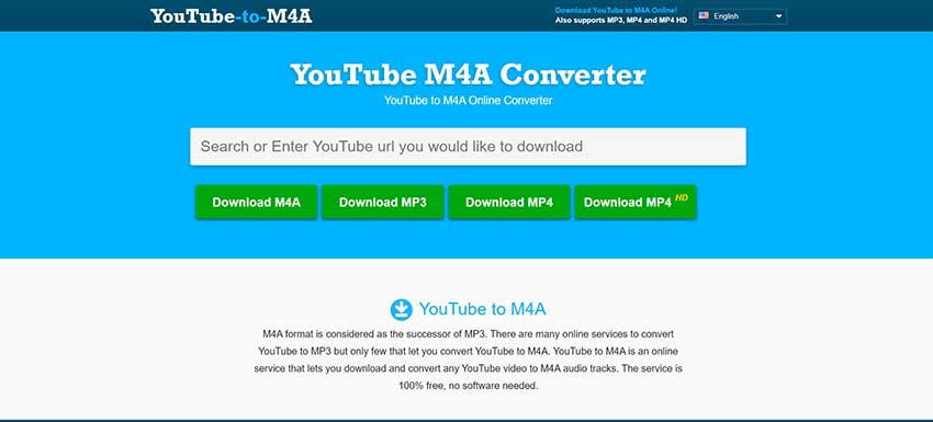 YouTube to M4A Online Converter