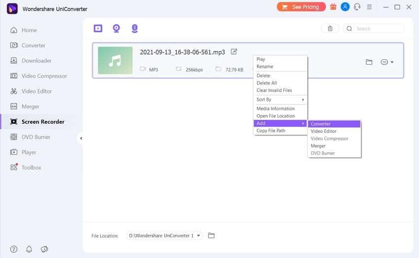 add m4b audio file
