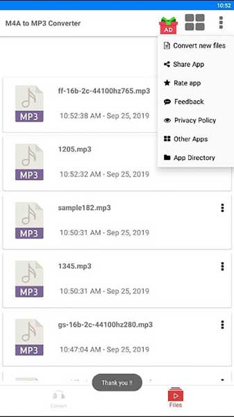 convert M4B to MP3 Android