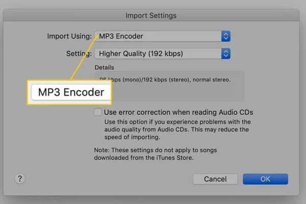 choose the MP3 Encoder