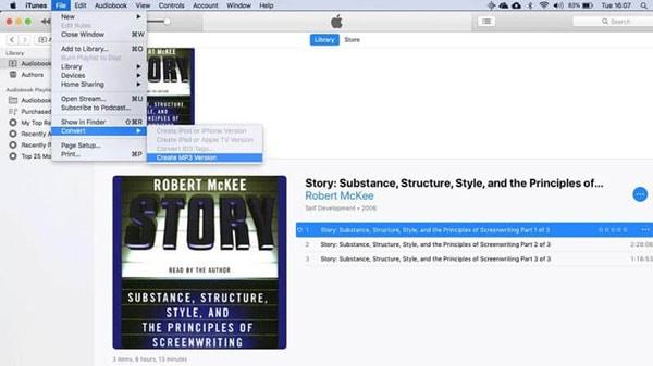 convert M4B to MP3 iTunes