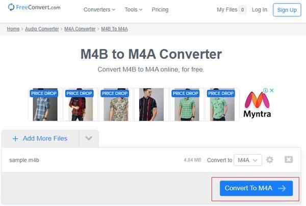 convert M4B to M4A
