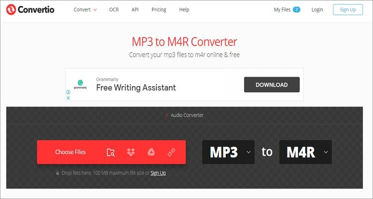 M4A to M4R Online Converter - Convertio